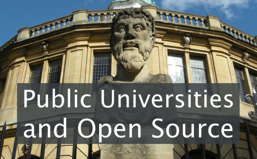Public Universities and Open Source