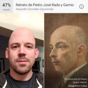 A comparison of Jeremy and a portrait of Pedro José Rada y Gamio